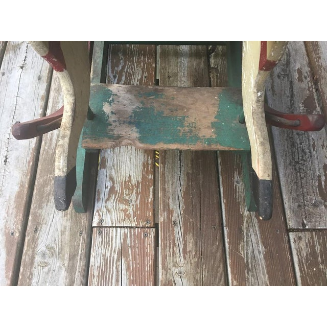 Late 1800s Victorian Double Rocking Horse For Sale - Image 10 of 11