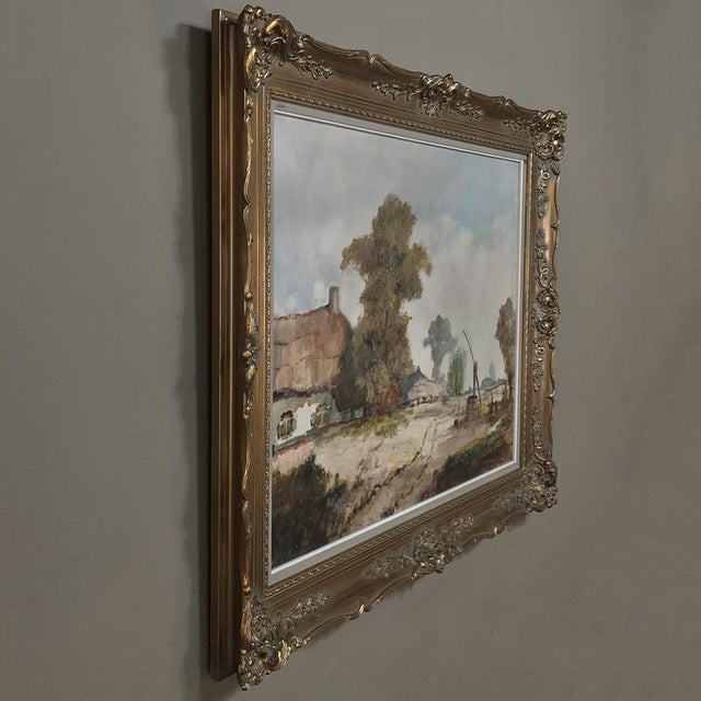 Expressionism Antique Framed Oil Painting on Canvas by Pauwels For Sale - Image 3 of 13