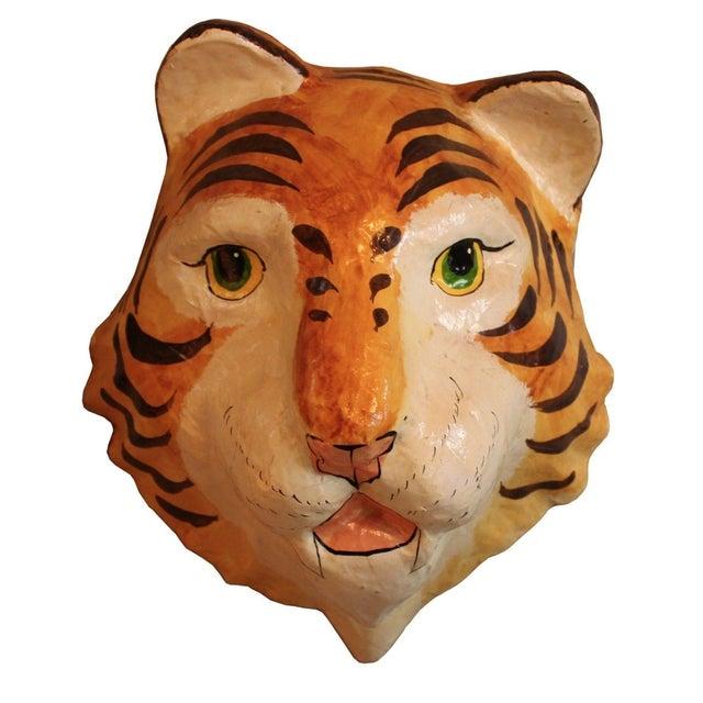 Decorative Paper-Mâché Tiger Mask - Image 1 of 4