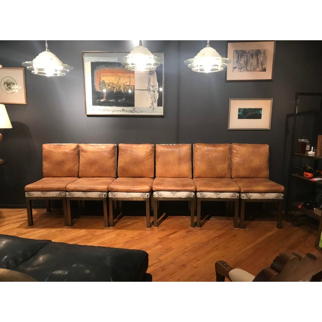 Gold Mid Century Dining Chairs - Set of 6 For Sale - Image 8 of 8