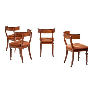 Set of Four Danish Klismos Chairs, Late 19th Century For Sale