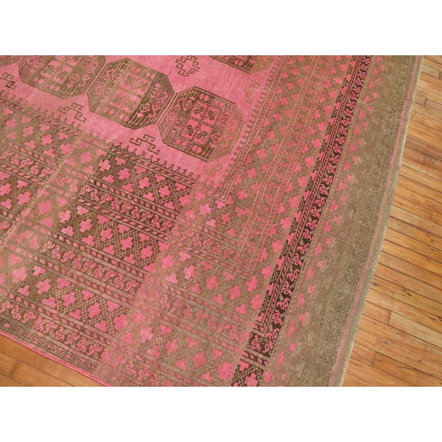 Wild Pink Vintage Tribal Rug, 10'10'' X 13'5'' For Sale In New York - Image 6 of 11