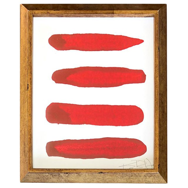 Manifesto in Red Contemporary Framed Painting For Sale