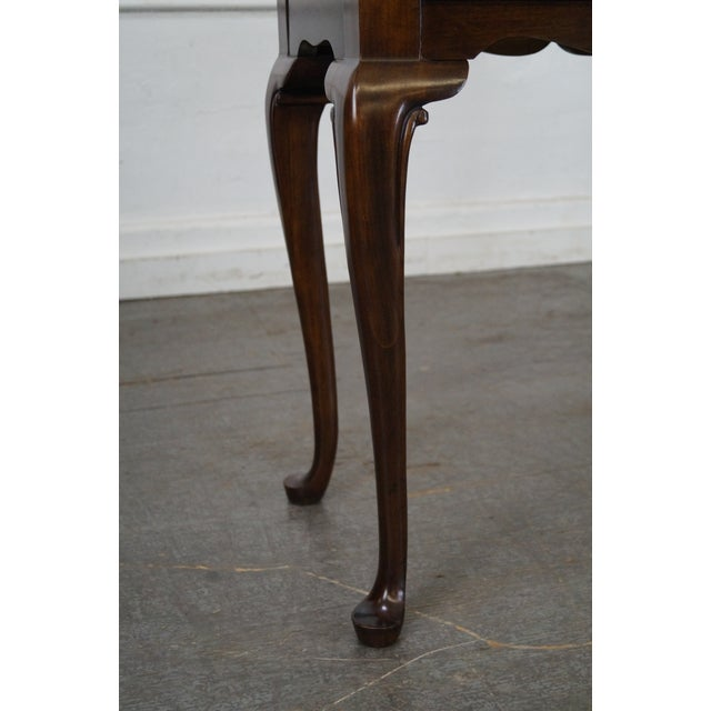 Drexel Heritage Queen Anne Style Cherry 2 Drawer Console Table - Image 7 of 10