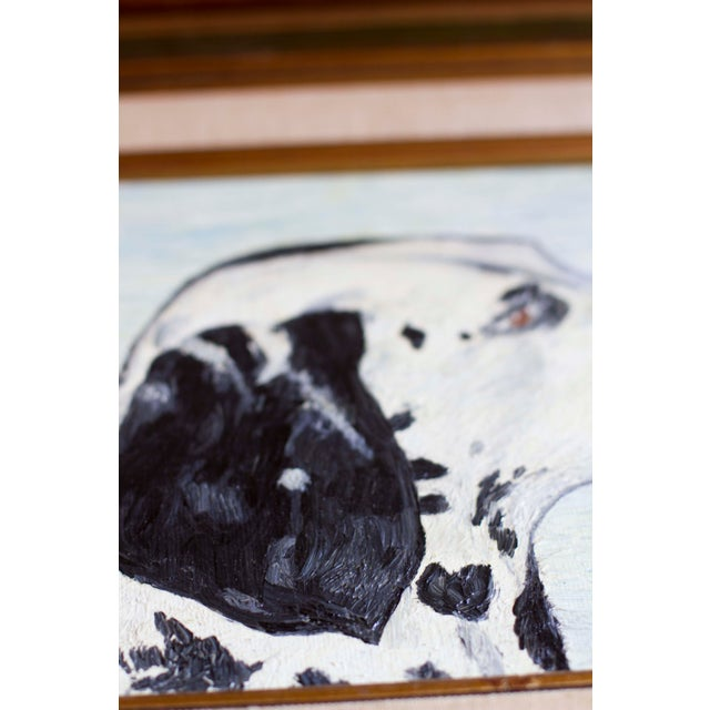 1966 Vintage Dalmatian Oil Painting - Image 5 of 8