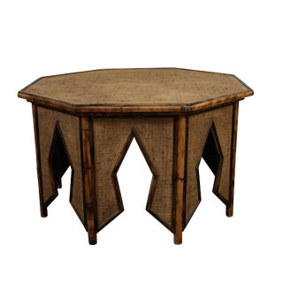 Jw Custom Line Tiger Bamboo Octagonal Coffee Table For Sale