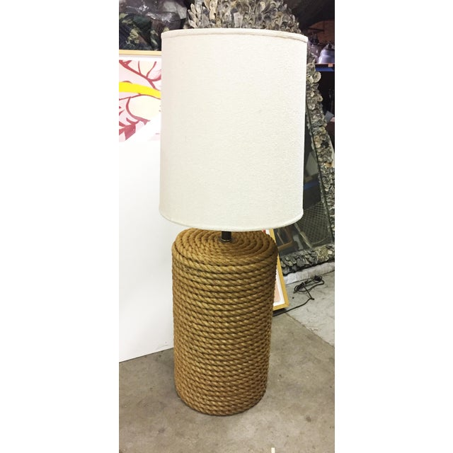 Oversized rope table lamp. Nautical, Americana style and charm.
