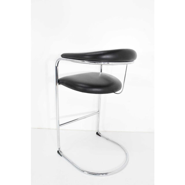 Chrome Anton Lorenz for Thonet Bar Stool For Sale - Image 7 of 11