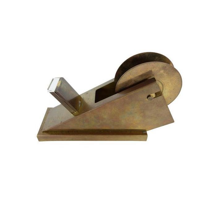 Modernist Brass Tape Dispenser For Sale - Image 4 of 4