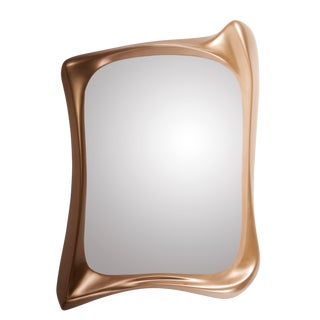 Amorph Narcissus Mirror, Gold Finish For Sale