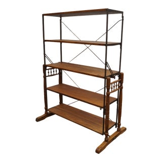 Early 20th Century Convertible Baker's Rack Display Table For Sale