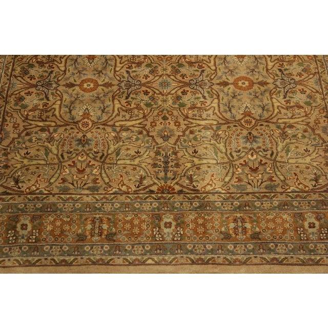 Textile Semi Antique Tabriz Pak-Persian Jerrie Tan/Lt. Brown Wool Rug - 4'0 X 6'6 For Sale - Image 7 of 8