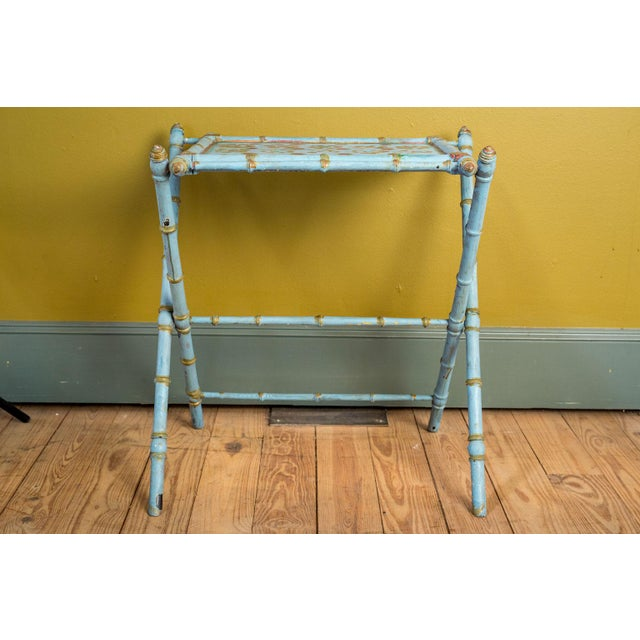 Antique Painted Tray Table For Sale - Image 12 of 13