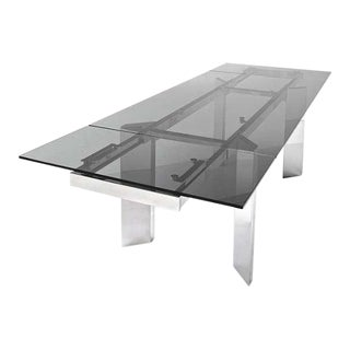 Calligaris Extendable Glass Table For Sale