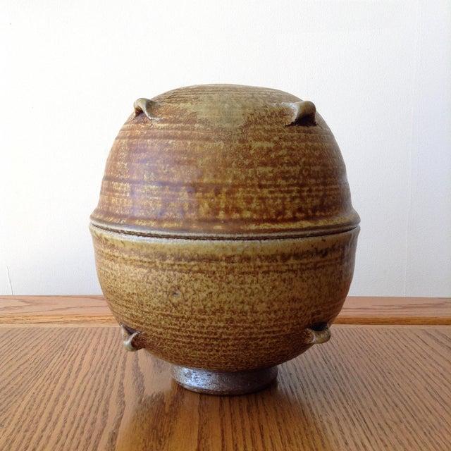 Mid-Century Modern Vintage 1960s Ceramic Vessel For Sale - Image 3 of 9