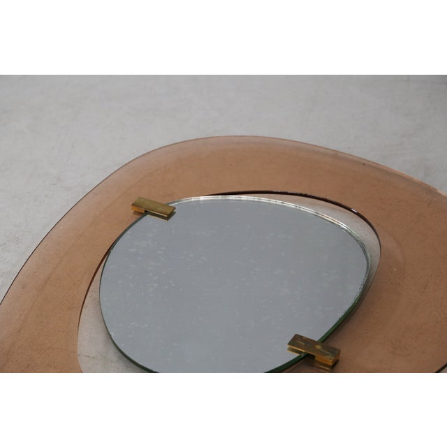 Max In Mid Century Mirror for Fontana Arte Italy, 1950s For Sale - Image 6 of 8
