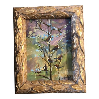 "Original Contemporary Stephen Heigh Impressionist Painting "" Community "" Frame For Sale"