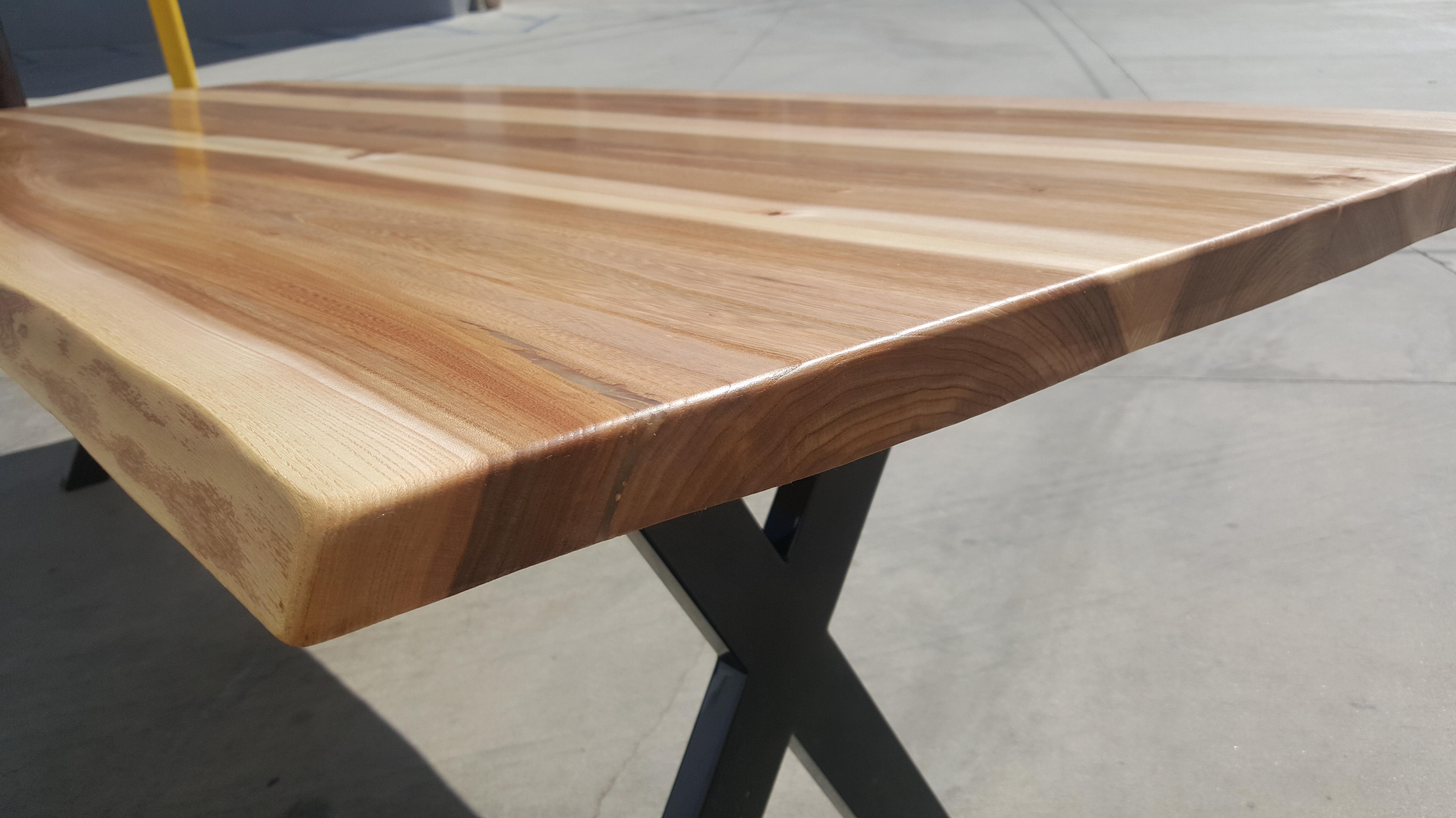 Live Edge Poplar Wood Dining Table   Image 6 Of 10