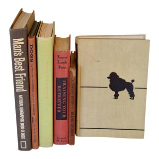 Vintage Dog Book Collection - Set of 6