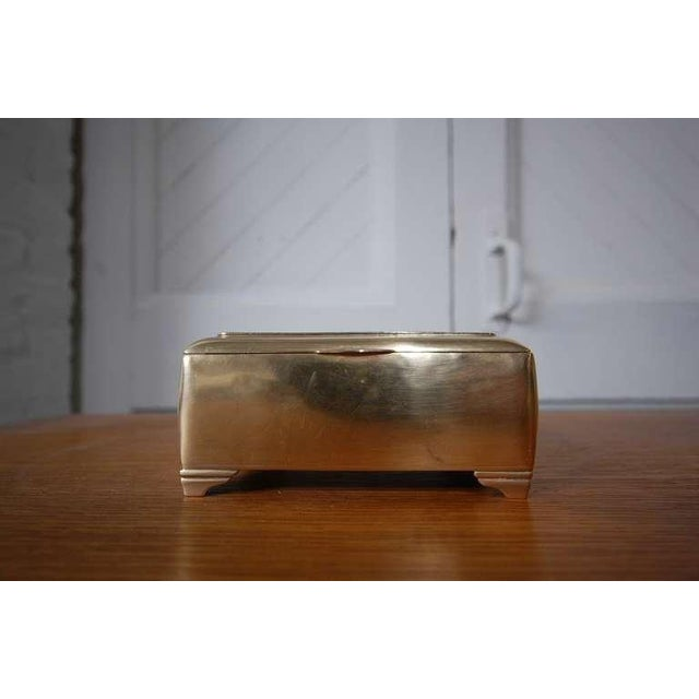 Mahogany Lined Brass Box by Just Andersen For Sale In Providence - Image 6 of 7