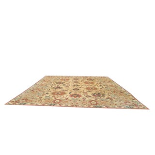 13′6″ × 15′5″ Vintage Wool Mahal Handmade Knotted Wool Rug - Size Cat. 12x15 14x16 For Sale