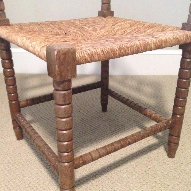 Corner Cane Spool Chair - Image 7 of 7