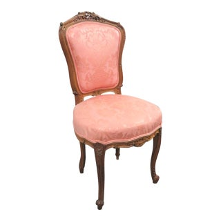 Louis XV Carved Walnut Side Chair