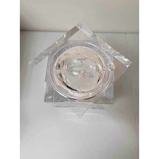 2010s Aero Studios Ice Bucket With Globe Detail For Sale - Image 5 of 6