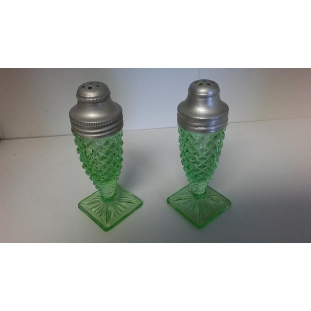 Vintage Miss America Green Salt and Pepper Shakers - a Pair For Sale - Image 6 of 10