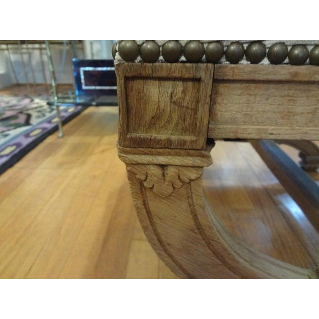 Wood 19th Century French Louis XVI Style Bench or Ottoman For Sale - Image 7 of 11