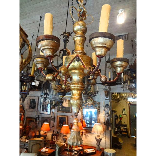 Italian 19th Century Gilt Wood Chandelier For Sale - Image 10 of 10