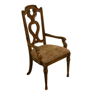 Drexel Heritage Spanish Revival Dining Arm Chair For Sale