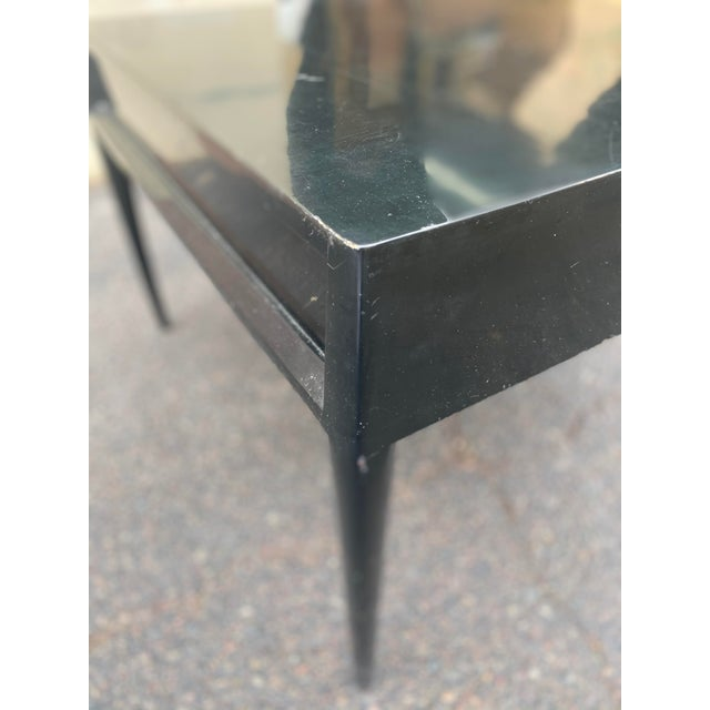Paint 1950s Mid-Century Mount Airy Black Lacquered Occasional Table For Sale - Image 7 of 13