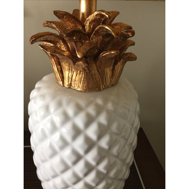 Vintage Inspired Pineapple Lamps- Pair - Image 6 of 7