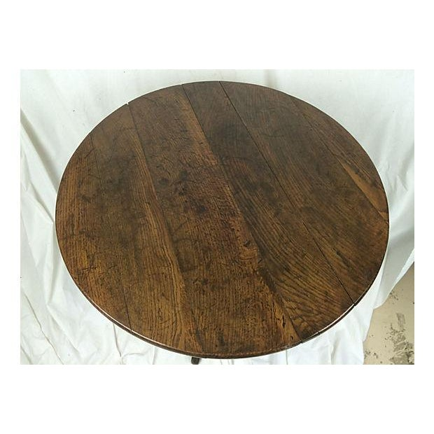 19th-C. English Oak Tilt Top Table - Image 3 of 4