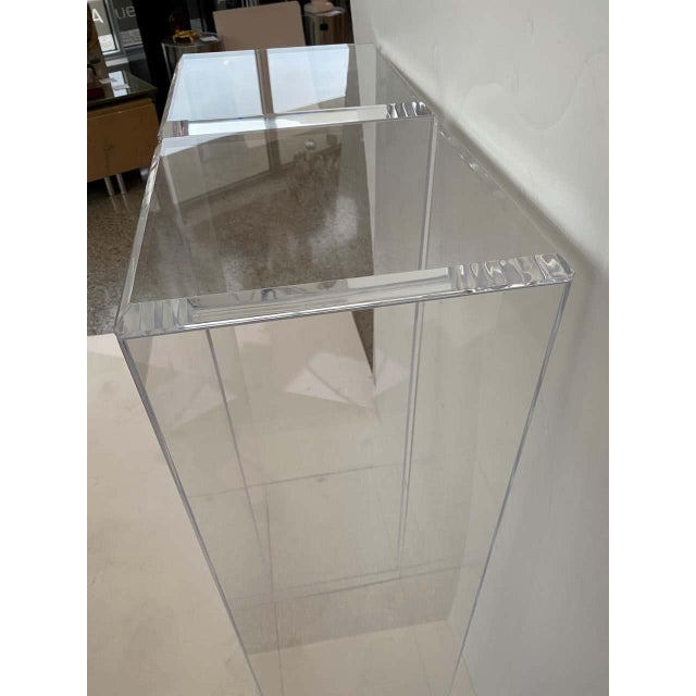 "Plastic 42"" Lucite Pedestals Floor Samples bySnob Galeries - a Pair For Sale - Image 7 of 13"
