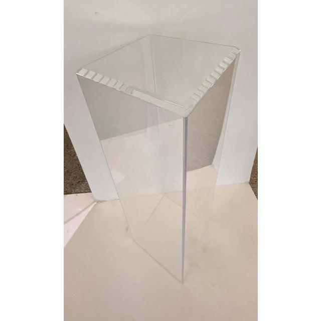 "42"" Lucite Pedestals Floor Samples bySnob Galeries - a Pair For Sale - Image 11 of 13"