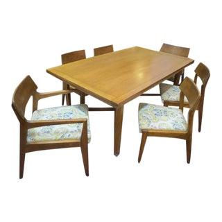 Vintage Mid Century Modern Walnut Dining Set - 7 Pieces For Sale