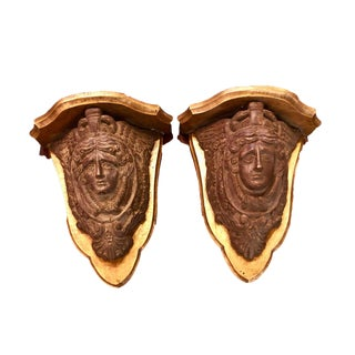 Régence Style Carved Element Mounted as Brackets - a Pair For Sale