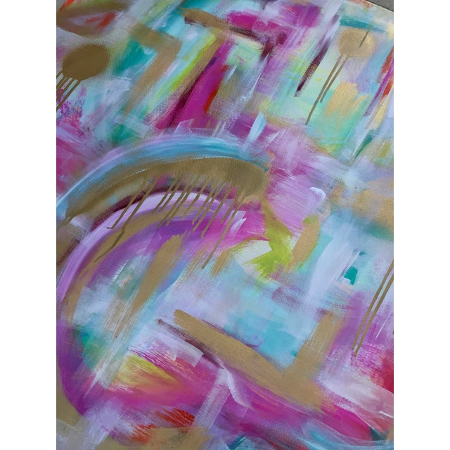 "Abstract Christina Longoria ""Just Like Heaven"" Abstract Painting For Sale - Image 3 of 5"