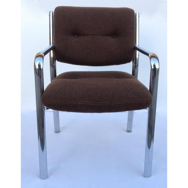 Hollywood Regency Mid-Century ChromCraft Chrome Arm Chair For Sale - Image 3 of 11
