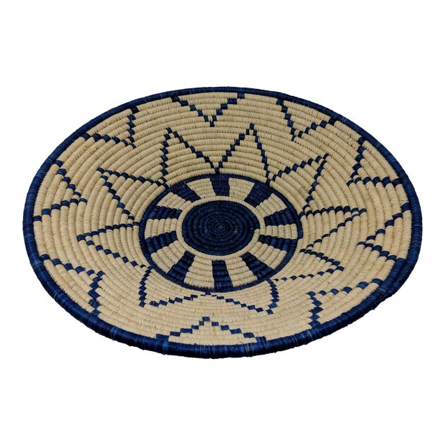 Large Woven Ugandan Basket For Sale