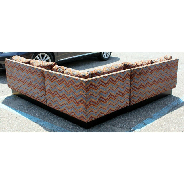 Mid Century Modern Erwin Lambeth 3 Piece Plinth Base Sectional Lenor Larsen 70s For Sale In Detroit - Image 6 of 10
