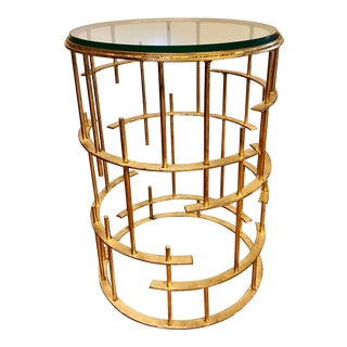 Gold Leaf Iron Side Table