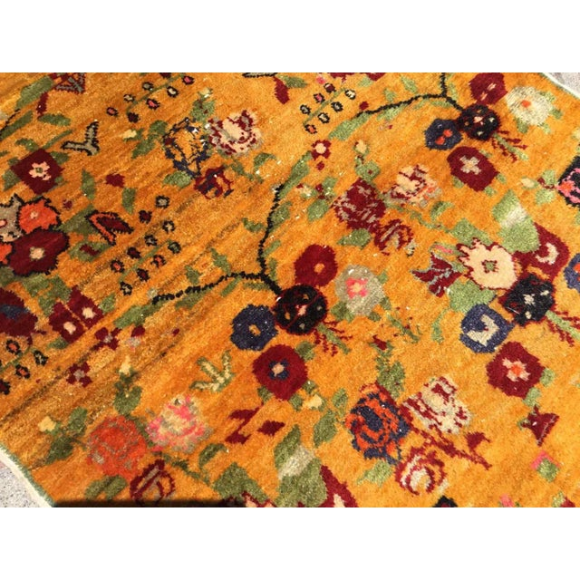 Textile Orange Vintage Hand Knotted Turkish Rug For Sale - Image 7 of 11