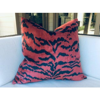 "Contemporary Scalamandre ""Le Tigre"" Pillows in Red and Black - a Pair Preview"