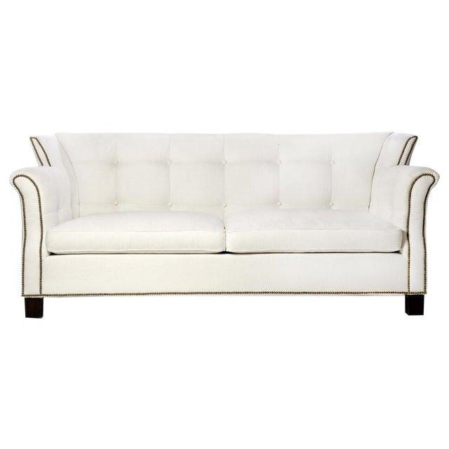 Modern Classic Designer Sofa | Chairish