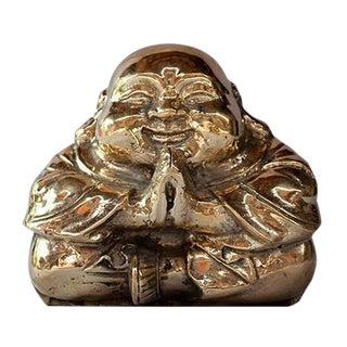 Praying Copper Buddha Figure For Sale