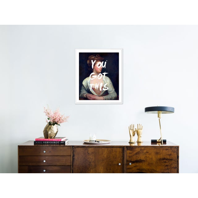 Contemporary You Got This by Lara Fowler in White Framed Paper, Large Art Print For Sale - Image 3 of 4
