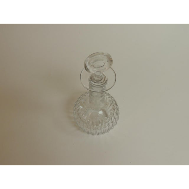Traditional Vintage Cut Crystal Decanter With Round Stopper For Sale - Image 3 of 5